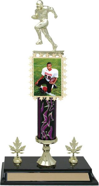 """15 1/2"""" Round Column Trophy with 2 trim (we can make your column trophies almost any size)"""