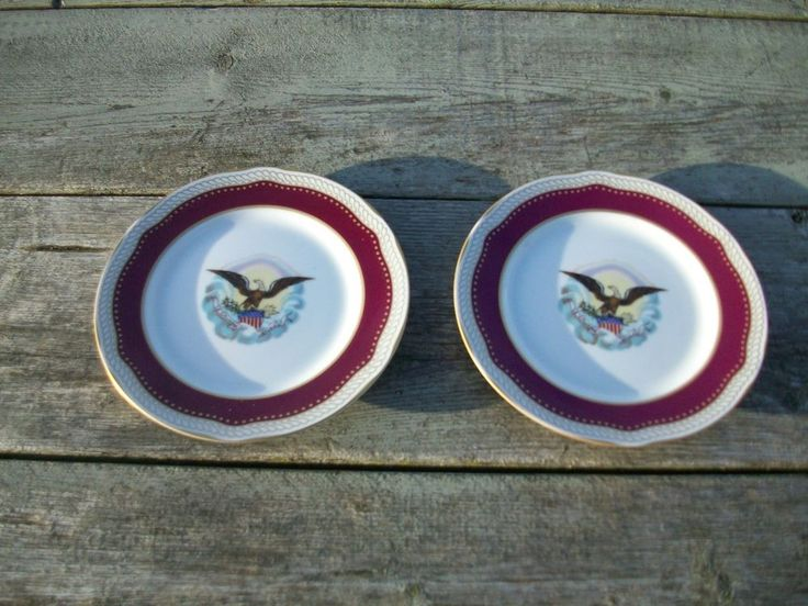 2 Collectible Plates White House China Abraham Lincoln President 1861 1865 Ca1 Collectable