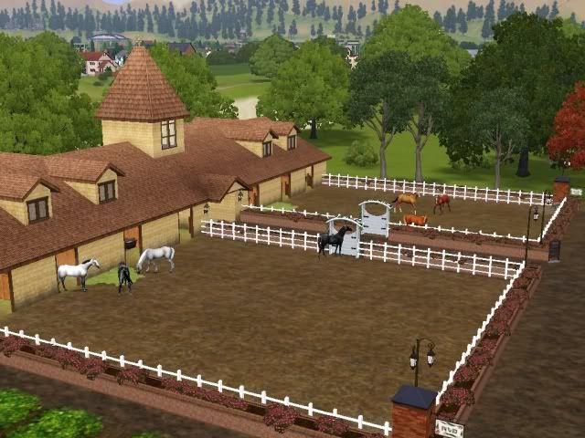 148 best sims 3 pets horses images on pinterest pets for Horse farm house plans