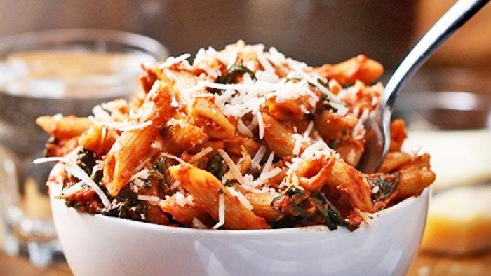 Egyedényes paradicsomos-csirkés tészta Recept képpel - Mindmegette.hu - Receptek
