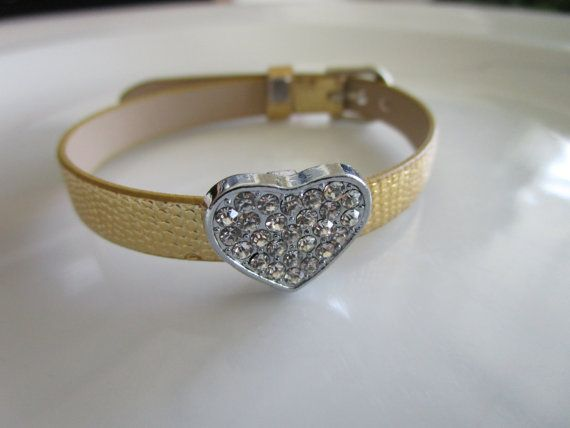 Charm gold watch band bracelet for girls  gift by LeeliaDesigns
