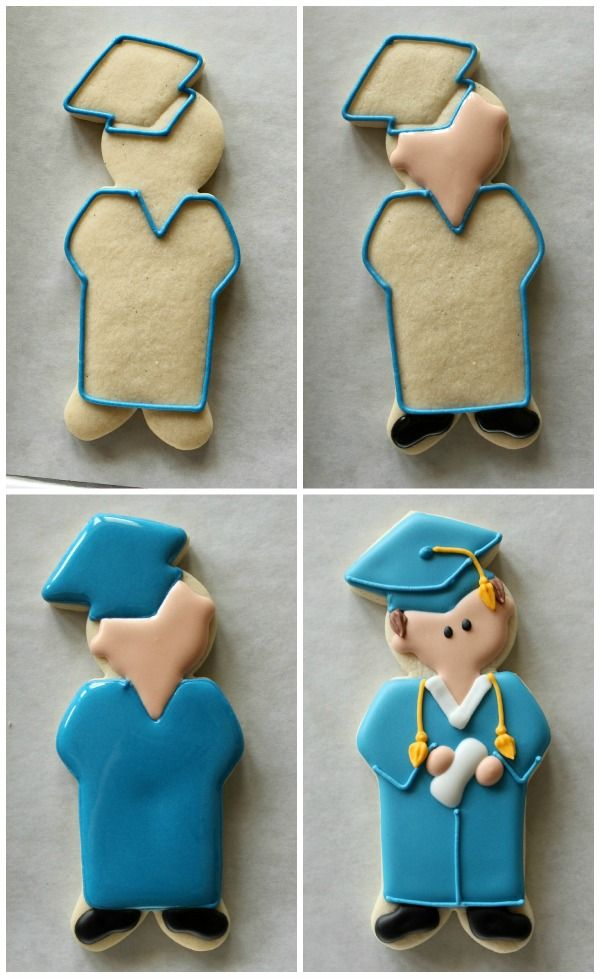 Graduate Cookies - For all your cake decorating supplies, please visit craftcompany.co.uk