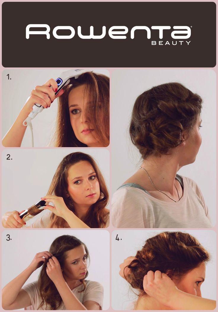 Dziewczęcy kok Krok 1. Unieś włosy od nasady przy pomocy VOLUM'24 Krok 2.  Zrób luźne fale używając prostownicy RESPECTISSIM 7/7 Krok 3. Zrób przedziałek na bok, z jednej strony skręć ślimaka i podepnij  go z tyłu Krok 4. Resztę włosów podepnij w luźny kok nad karkiem #Respectissim #Rowenta #RowentaPolska #fryzura #włosy #hair #hairstyle #hotd #wlosomaniaczka #wlosomaniaczki #hairmania #hairgoals #haircolor #curls #waves #straightner #volum #wavy #straight #easy #tutorial #stepbystep