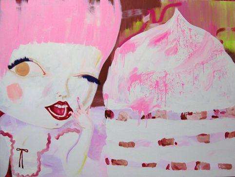 Mansikka / Strawberry, 100 cm x 150 cm, Katja Tukiainen 2009