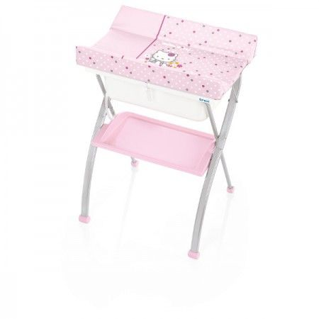 Table à langer + baignoire Hello Kitty Lindo pink rose