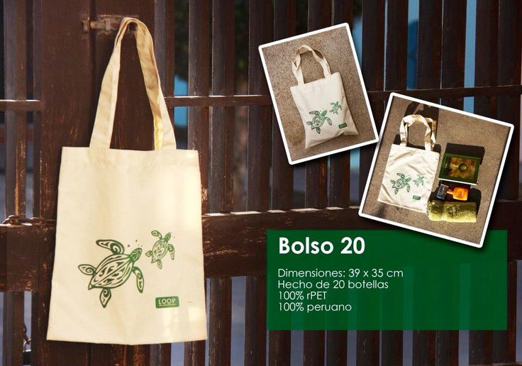 Bolso de tortuguitas ideal para ir a la playa #tote #bag #handmade #rPET #recycling #peruvian