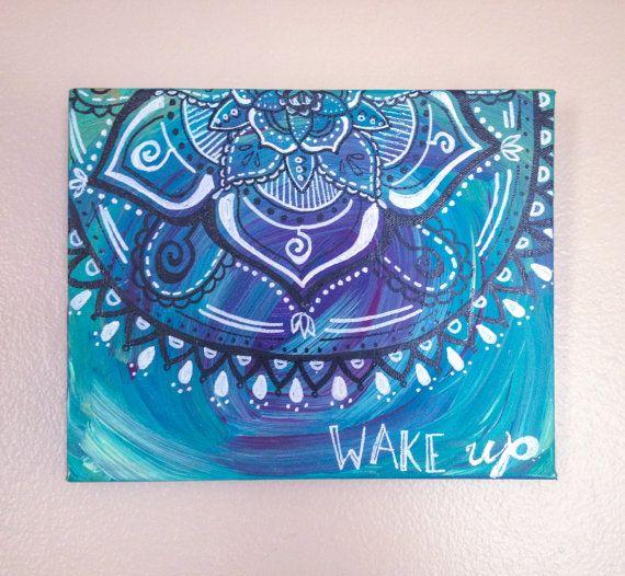 RESERVED: KiCrabb // Wake up // Mandala // Acrylic Painting //
