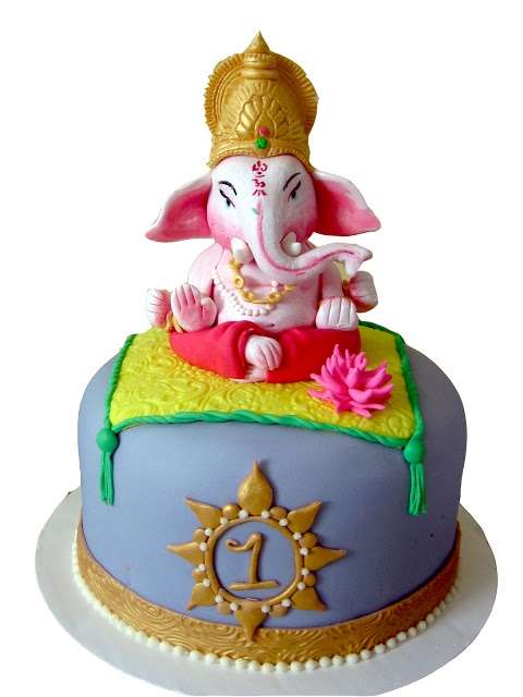ganache Ganesha! Petite Marie Cakes, 2010 (I've seen some copies of this design, very flattered)