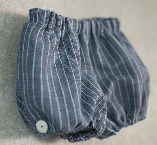 Pantalón corto lino grueso azul - Nottocbaby