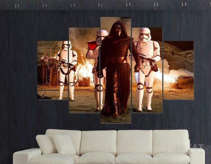 Kylo ren 5 piece canvas limited edition prints prntable painting canvas