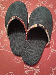 Chaussons en jean recyclé : le tuto                                                                                                                                                                                 Plus