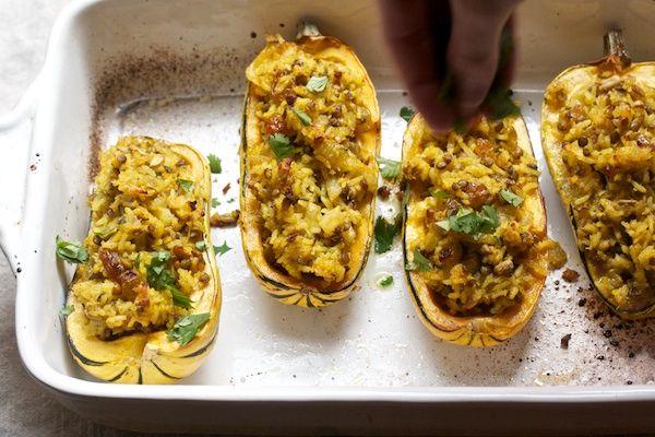 Curry Stuffed Delicata Squash | Favorite Recipes | Pinterest