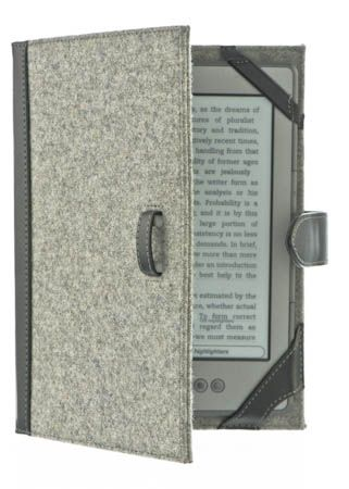 DIY Kindle cover - felt, leather, cardboard (could use old book cover), elastic straps to hold device in: http://www.instructables.com/id/DIY-Kindle-Cover/