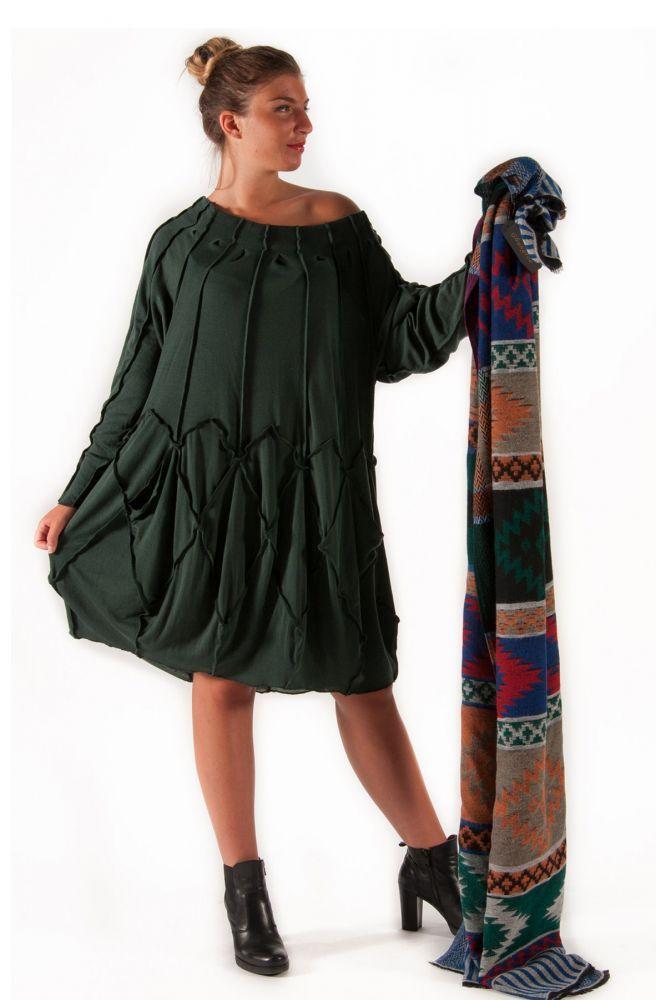 Ghungroo Abito in tessuto di jersey di lana con tagli – Ganesha Shop Online -