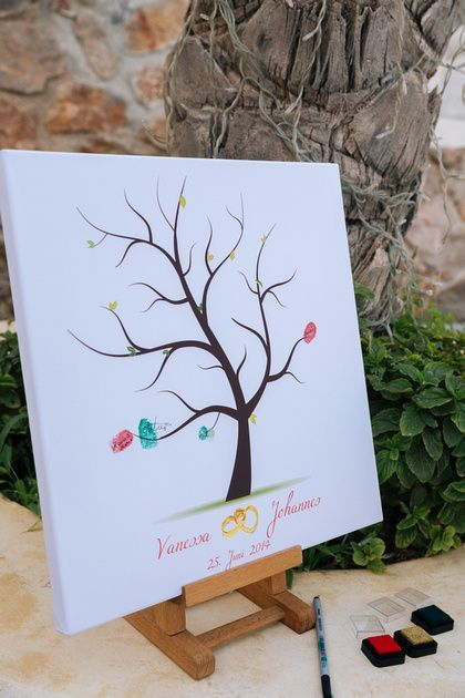 Beautiful thumb print tree!