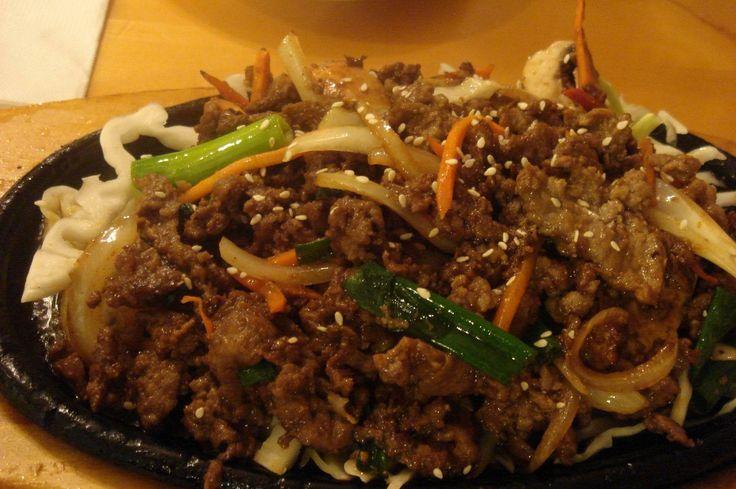 Carne Salteada Al Estilo Coreano Bulgogi (carne condimentada de vaca) - http://www.mytaste.es/r/carne-salteada-al-estilo-coreano-bulgogi-carne-condimentada-de-vaca-16820175.html