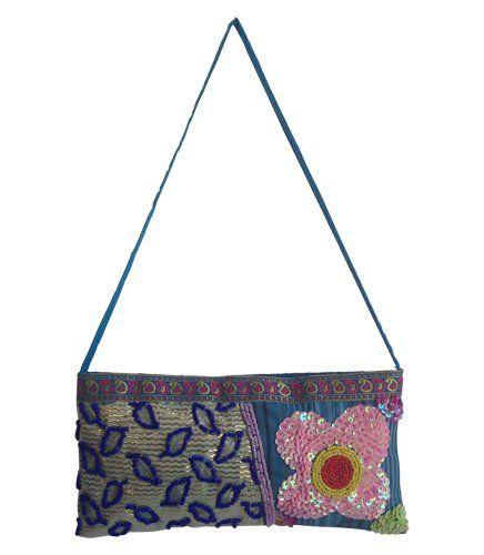 Decorative Bag - Blue | Indigo Heart - Fair Trade Fashion A$24