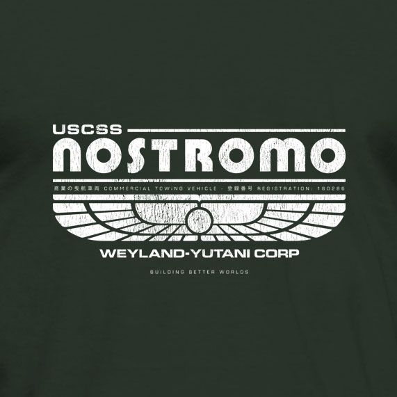 """USCSS Nostromo - Weyland-Yutani Corp. This tribute t-shirt is inspired by the 1979 movie """"Alien"""" - no copyright infringement intended. #alien #MoviTees #MovieInspired #tshirt $19.99"""