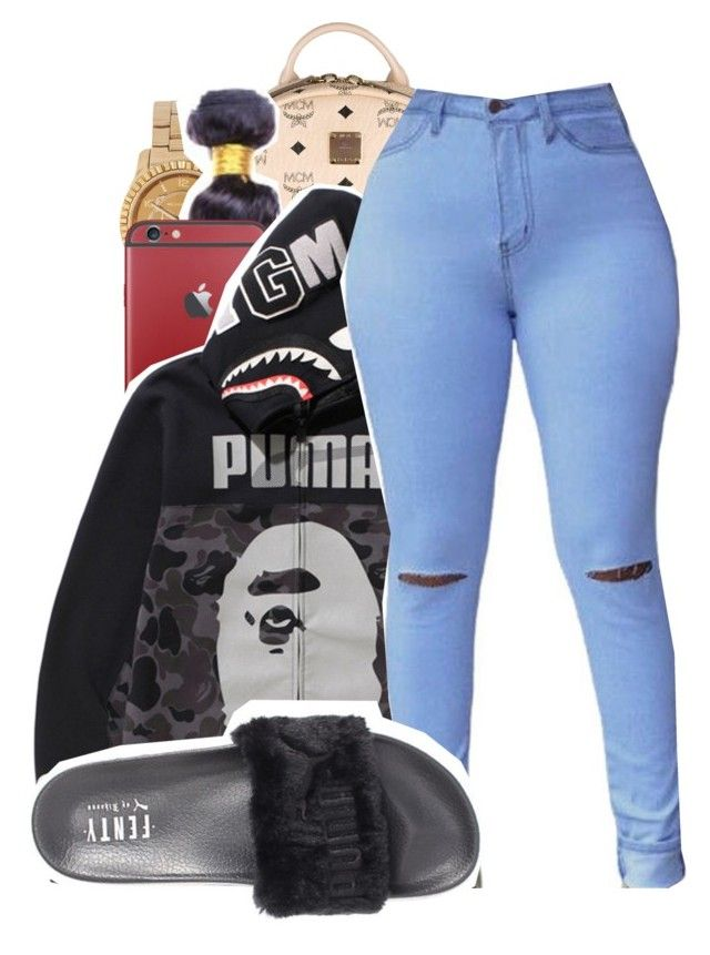 """""""Devastated x Joey Bada$$"""" by shilohluvsu ❤ liked on Polyvore featuring MCM, Michael Kors, A BATHING APE and Puma"""