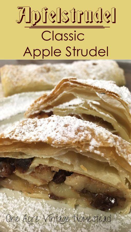 Authentic Apfel Strudel
