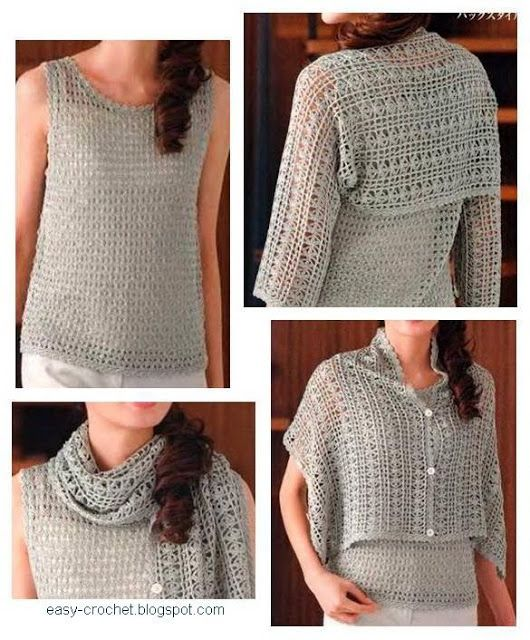 101 best Crochet Shrug Ideas images on Pinterest | Boleros ...