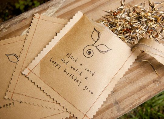 Eco Friendly Birthday Party Ideas For Kids Seed Packet