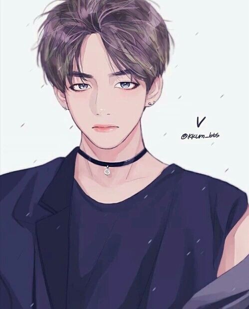 bts, v, and fanart image