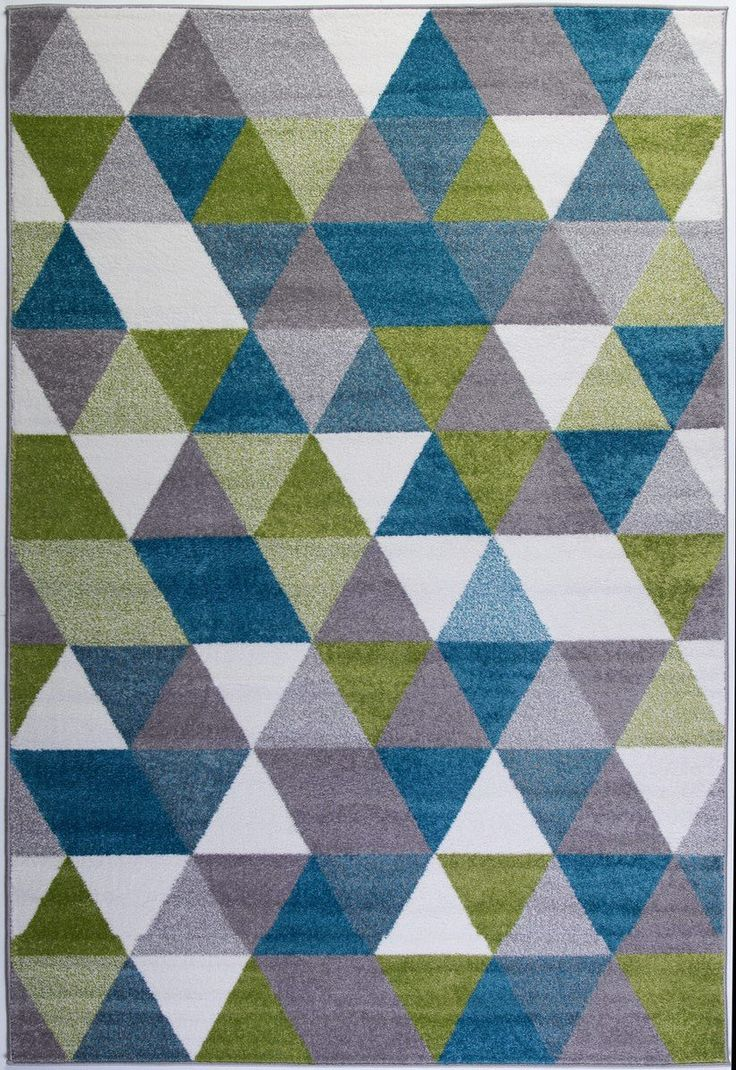 Empire Green Turquoise Triangles Area Rug #midcenturymodern #modern #rug #trendy #homedecor #arearugs #carpet #hallway #runners #stylish #floor #interiordesign #interiordesignideas