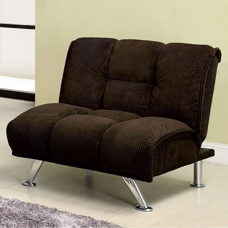 Benzara Maybelle Contemporary Single Sofa Chair With Corduroy Fabric ,  Brown (100% Polyester)