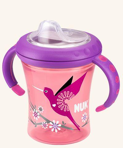 NUK Easy Learning Starter Cup 200ml mit Trinktülle. Ideal für den Übergang von Brust oder Flasche zum ersten Trinklernnbecher. Auslaufsichere Soft – Trinktülle aus weichem Silikon.