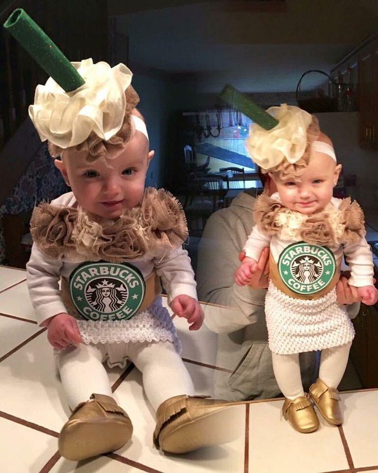 Starbucks caramel frappe child costume
