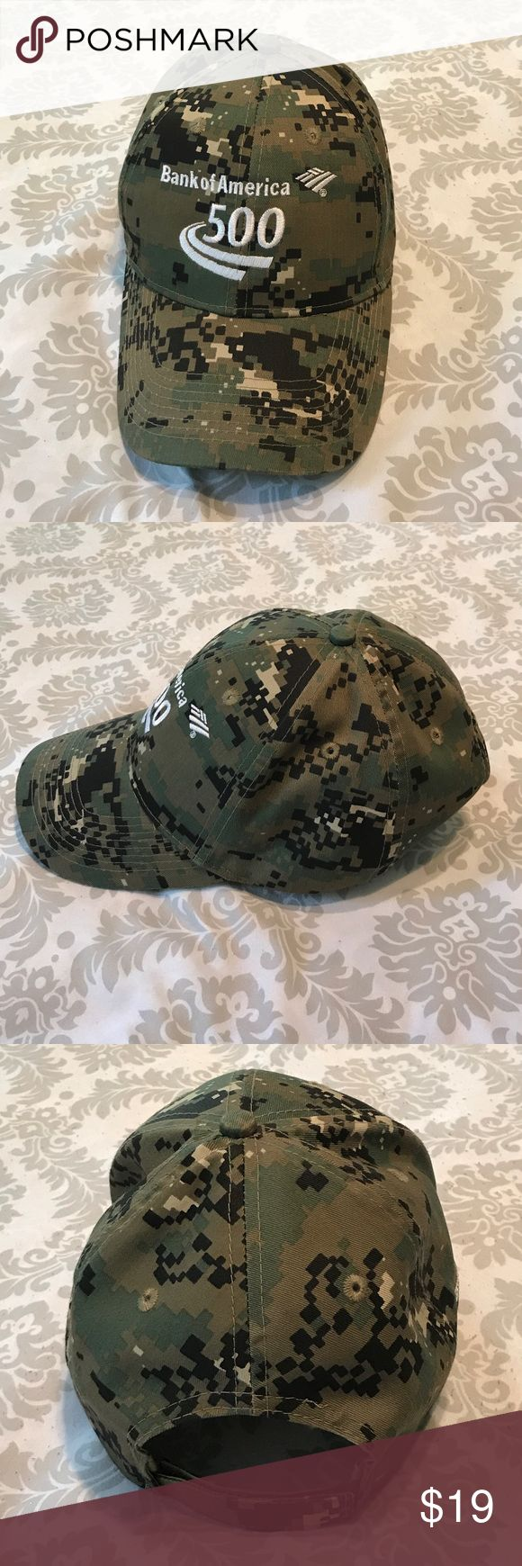 NASCAR Bank of America 500 Army valco back NASCAR Bank of American 500 valco back hat. New but no tag and never worn. otto collectio Accessories Hats