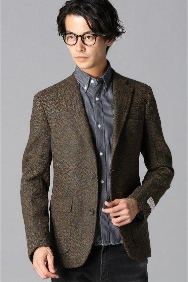 SOUTHWICK / サウスウィック:100% wool harris tweed heringbone