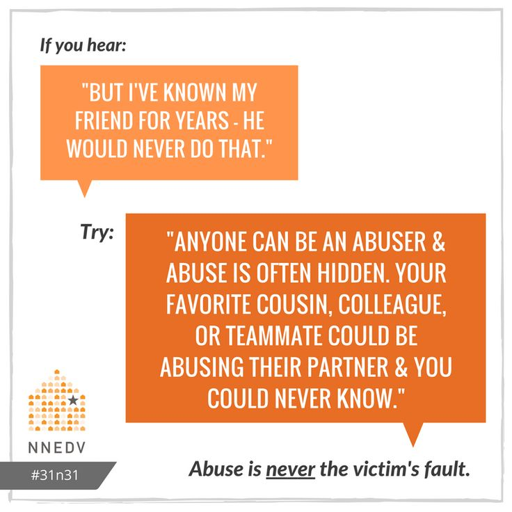 10/7: Someone can be a good friend, but still abuse their partner. #31n31 #DVAM2016  Learn more about common DV myths: http://www.huffingtonpost.com/ellen-hendriksen-phd/domestic-violence_b_5892034.html