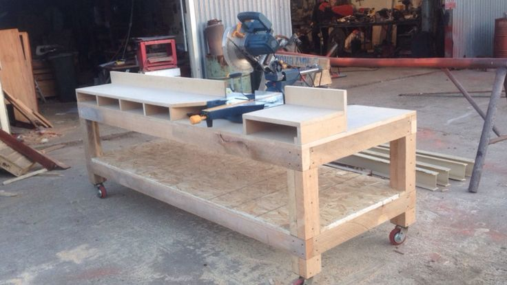 Miter saw station I made based of Home Depot's one but I modified it