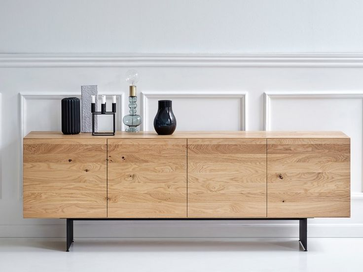 Download the catalogue and request prices of Raba sideboard By dk3, solid wood sideboard with doors design Rainer Bachschmid