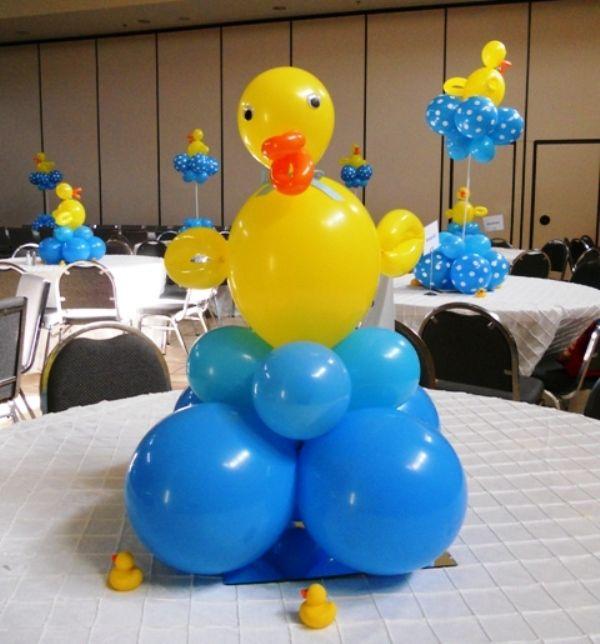 Dandy Duck Balloon Centerpiece Baby Shower Duck Rubber