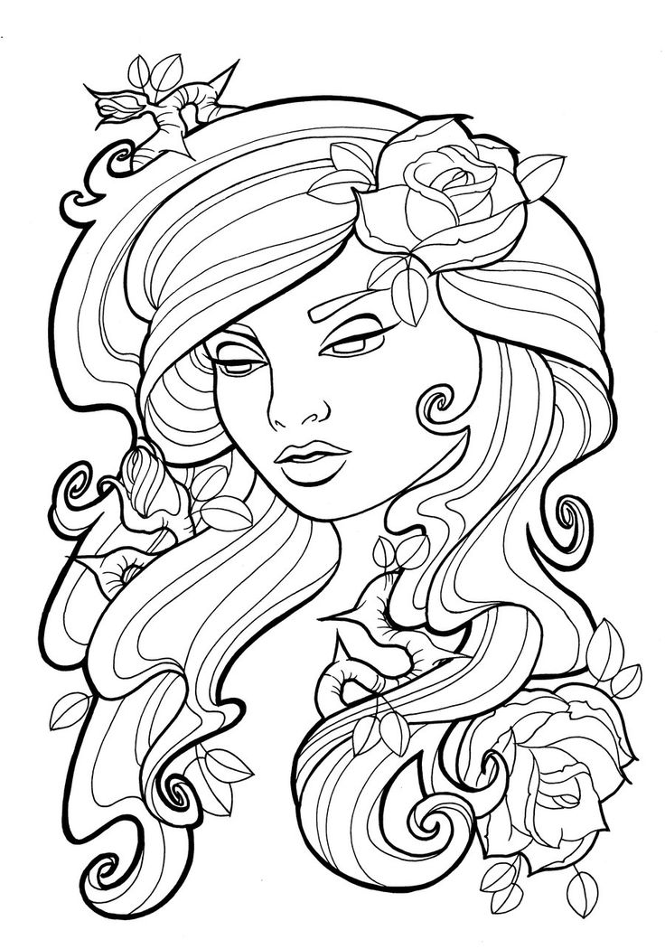 heart surrounded by ivy drawings for tattoo Art Nouveau