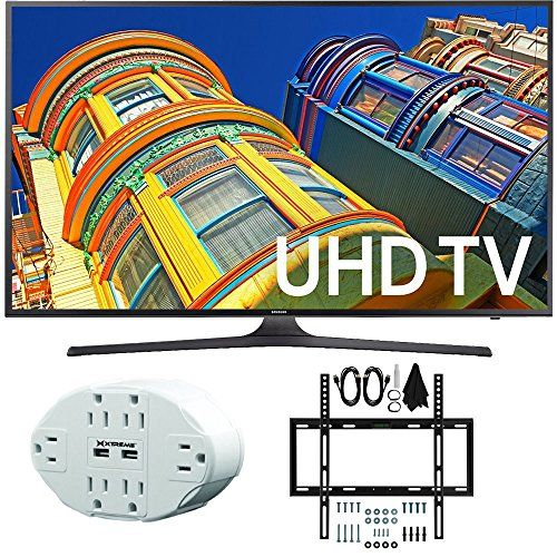 Bundle Includes Samsung UN43KU6300 - 43-Inch Smart 4K UHD LED TV 6 Outlet Home and Office Power Strip with Dual USB Ports Slim Flat Wall Mount Kit Ultimate Bundle for 19-45 inch TVs Enjoy 4K Ultra HD ...