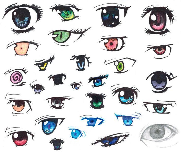 Easy To Draw Anime Eyes Boy 31425 Loadtve