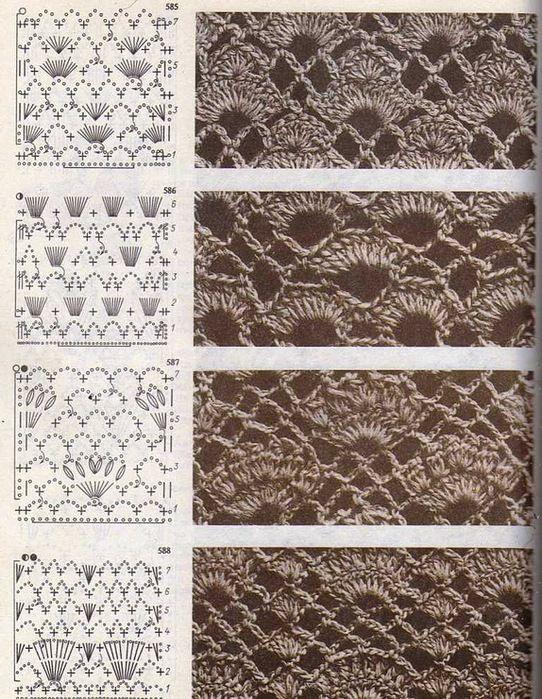 Crochet stitches.... #crochet_inspiration ..