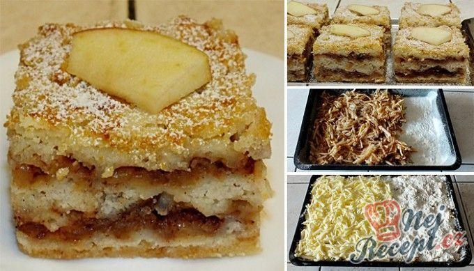 Sypaná hrnková buchta s jablky | NejRecept.cz