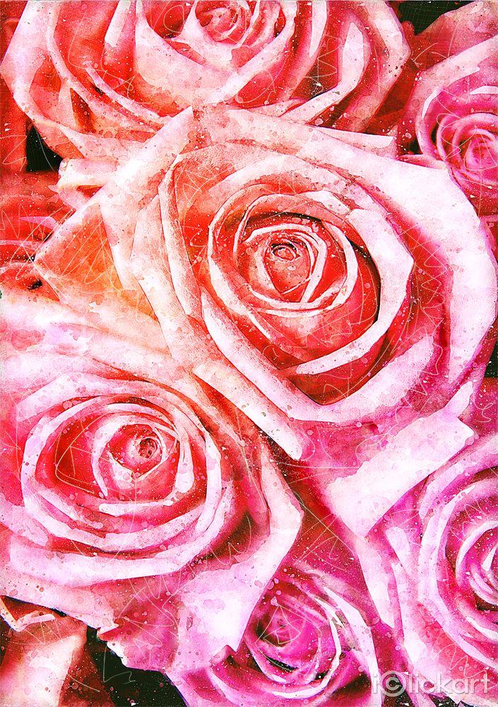 #꽃, #수채화, #일러스트, #디자인, #스톡이미지, #엔파인, #아이클릭아트, #Click_your_heart