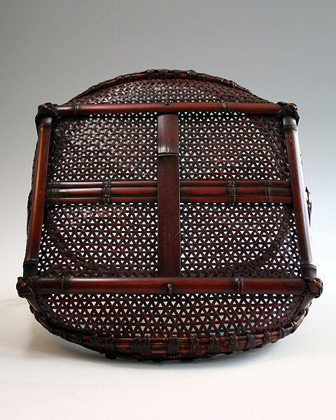 Maeda Chikubosai I (1872-1950), Flower Basket  - BambooTokyo.com - Japanese Bamboo Basket -