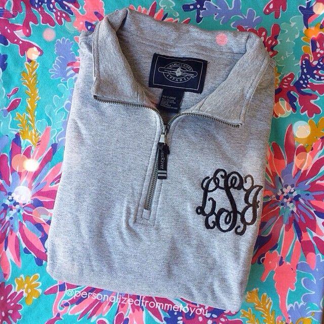 Preppy monogrammed pullover
