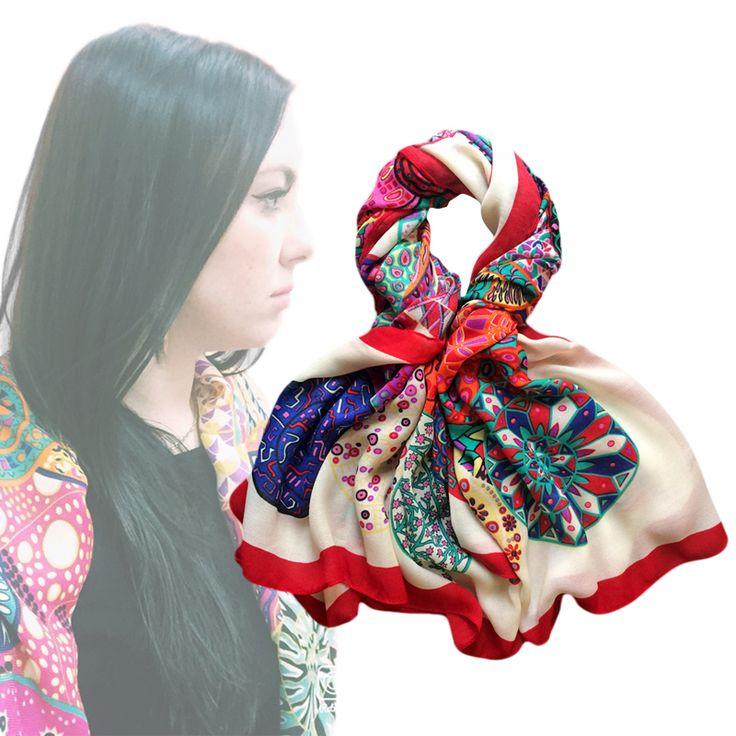 130x130 Frauen Winter Quadratschal Traum von Schnecke Marke Design Pashmina Bandana wollmischung Große Foulard New [0016]