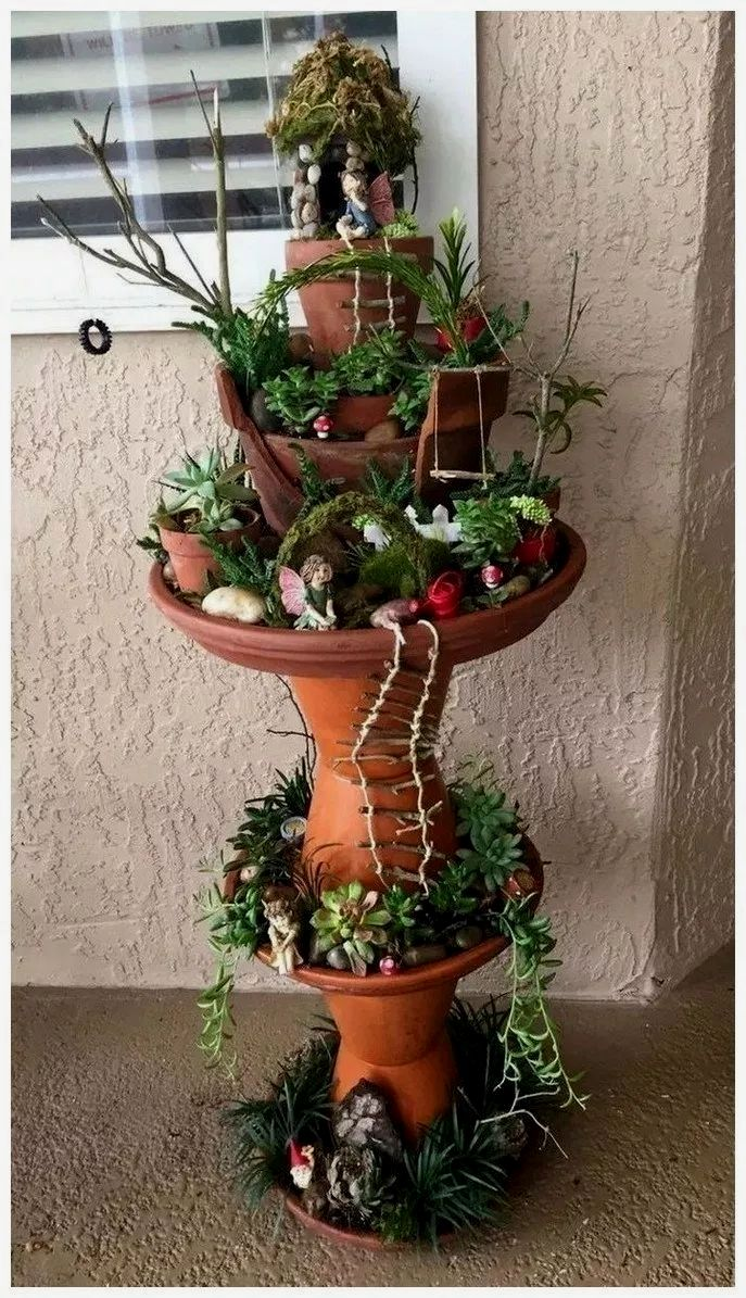 25 Ideas For Garden Pots And Containers Fairy Garden Pots Indoor Fairy Gardens Fairy Garden Houses