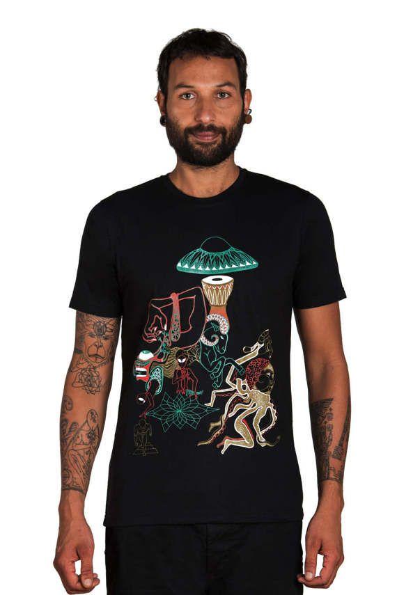 Alien T shirt - Ufo Shirt- Magic Mushrooms