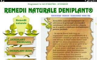 PSORIAZIS-CORESPONDENTA  DENIPLANT: Remediile naturale Deniplant
