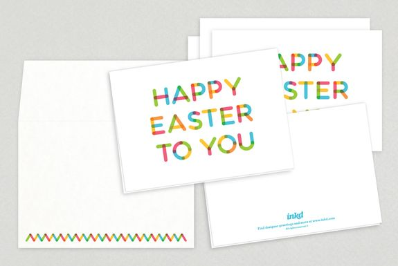 Hidden Egg Easter Greeting Card - geometric patterned easter egg - easter greeting card template